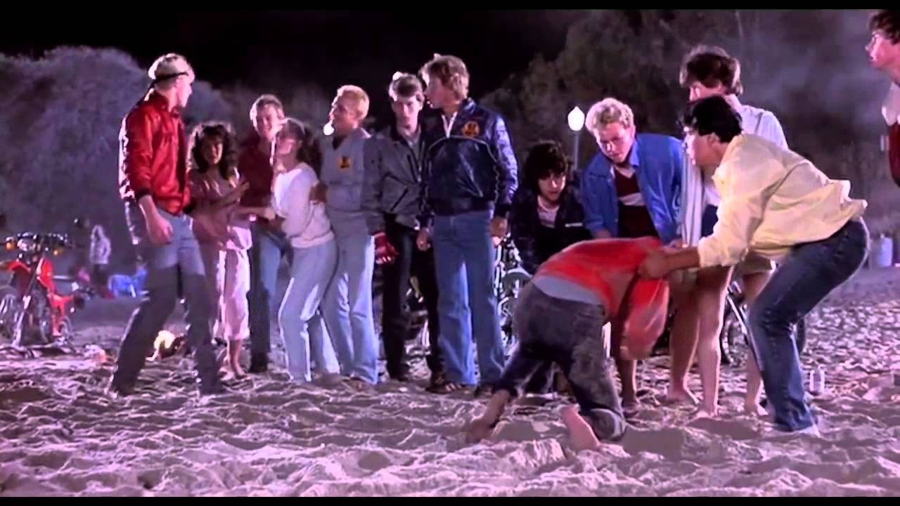 the karate kid beach fight scene hd scenes from the 80s 1984 youtube - The Karate Kid Halloween Fight