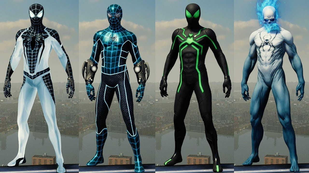 Marvel's Spider-Man (2018) - All Suits Showcase (Costumes ...