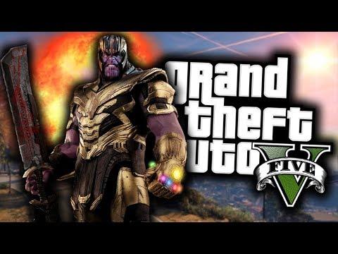GTA 5 Mod Indonesia - Mod Thanos Update Kekuatan nya semakin GILA !!