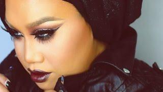 Brown Cut Crease with Dark Chocolate Lips | PatrickStarrr