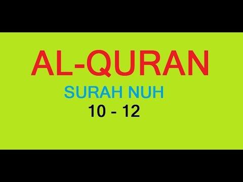 Al-Quran Surah Nuh Ayat 10 - 12