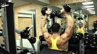 Лучшие упражнения для тренировки плеч (дельтовидных мышц). Натуральный бодибилдинг.(Итак, 8 лучших упражнений для тренировки дельтоидов (на мой взгляд): 1) тяги штанги широким хватом к груди..., 2015-03-01T18:25:44.000Z)