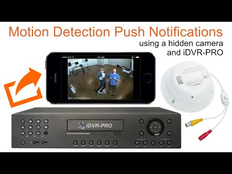 Hidden Spy Surveillance Camera Push Notification to iPhone