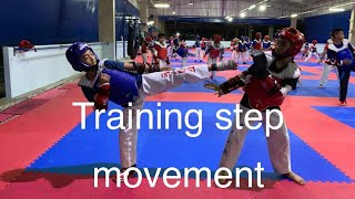 Training step movement#taekwondo#เทควันโด