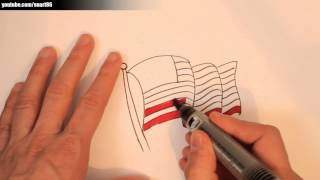 How to draw an american flag