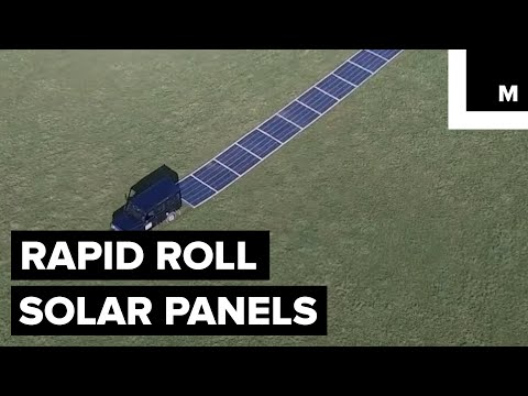 Rapid Roll Solar Panels