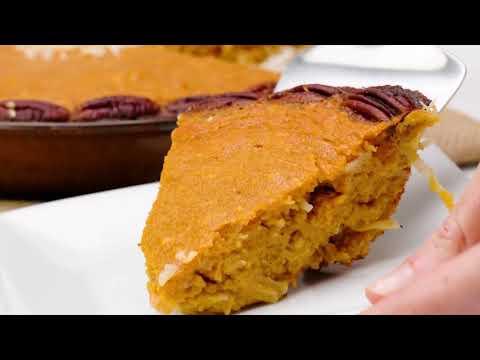 Crustless Sweet Potato Pie (Paleo, Gluten Free Recipe)