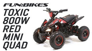 Product Overview: FunBikes Toxic 800w Black Red Kids Electric Mini Quad Bike