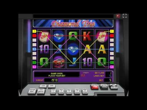 Как играть в игровой автомат Diamond Trio. Видео для обучения