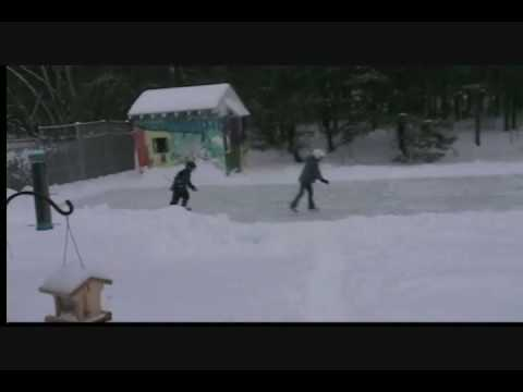 how to make a rilly big ice rink in your own backyard 2008 youtube