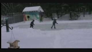 how to make a rilly big ice rink in your own backyard, 2008