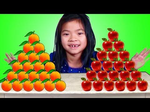 Emma Apples vs Oranges Pretend Play