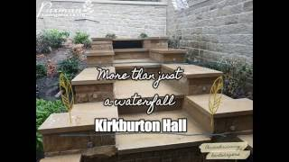 Kirkburton Hall: Waterfall, landscaping and planting by Paxman Landscapes