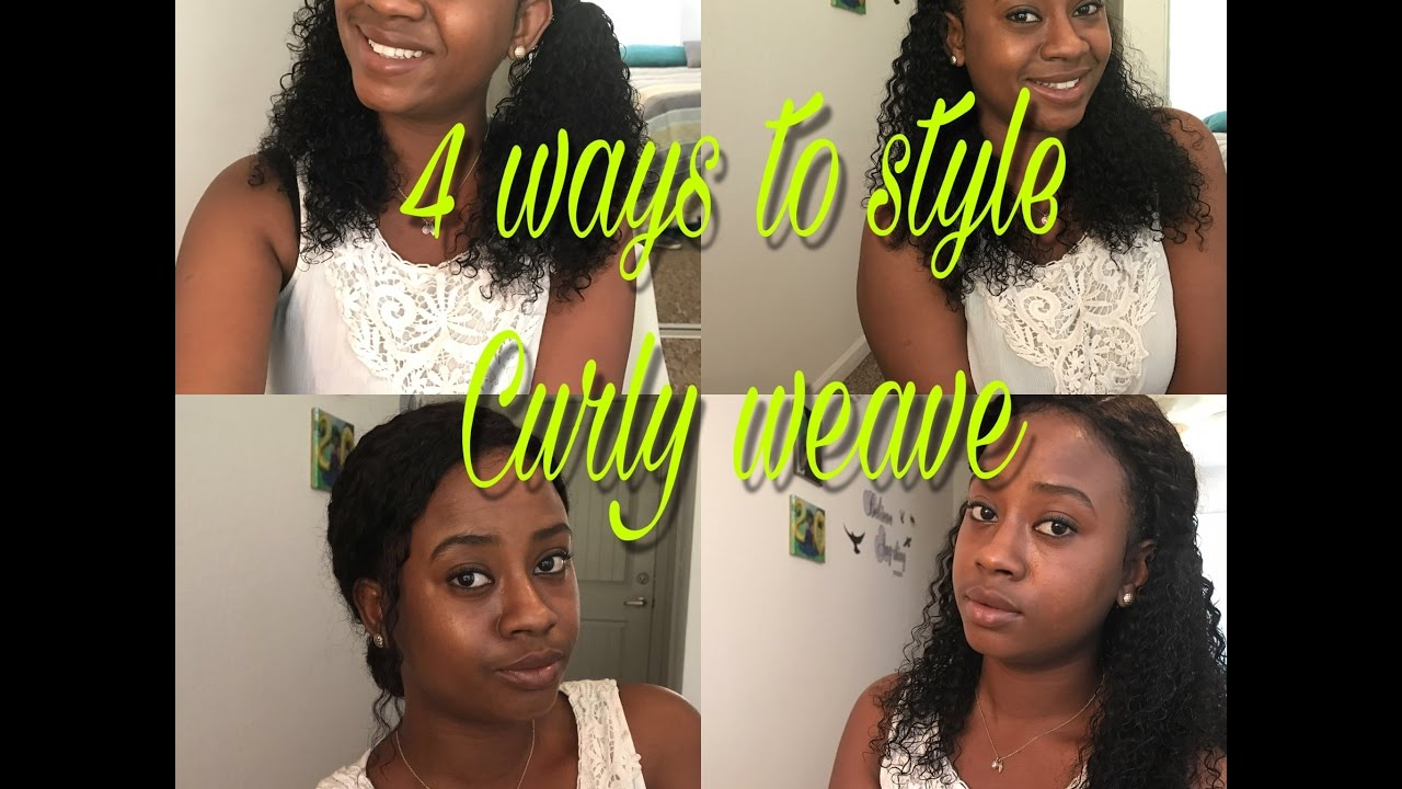 4 Ways To Style Your Curly Weave  d0f1f7739