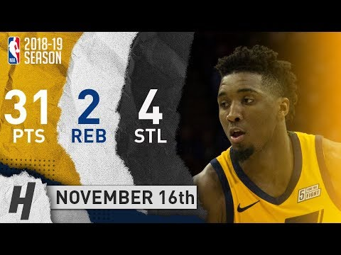 Donovan Mitchell Full Highlights Jazz vs 76ers 2018.11.16 - 31 Pts, 2 Reb, 4 Steals!!
