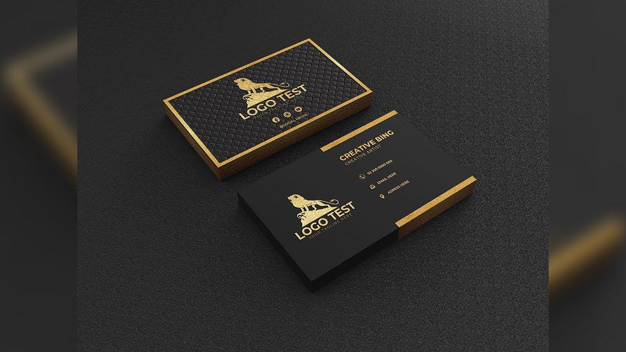Gold Metallic Business Card Design