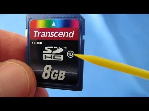 SD SDHC Card Problems and Fixes (Card Locked, Card Error, No Memory Card, Format Card)
