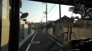 東急バス前面展望 自11系統 東京医療センター ⇨自由が丘駅 2017-12-22