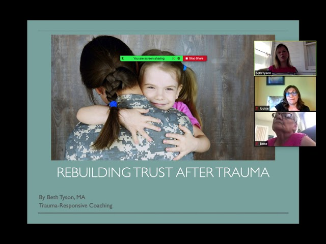Webinar: Rebuilding Trust After Trauma