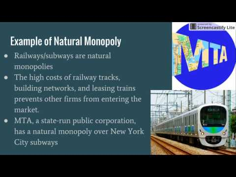 Natural Monopoly vs Price Control
