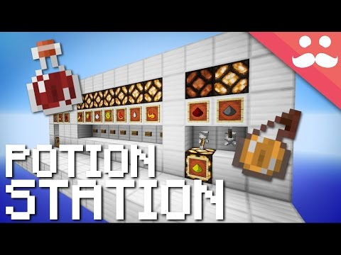 Minecraft Mega Potion Brewing Station