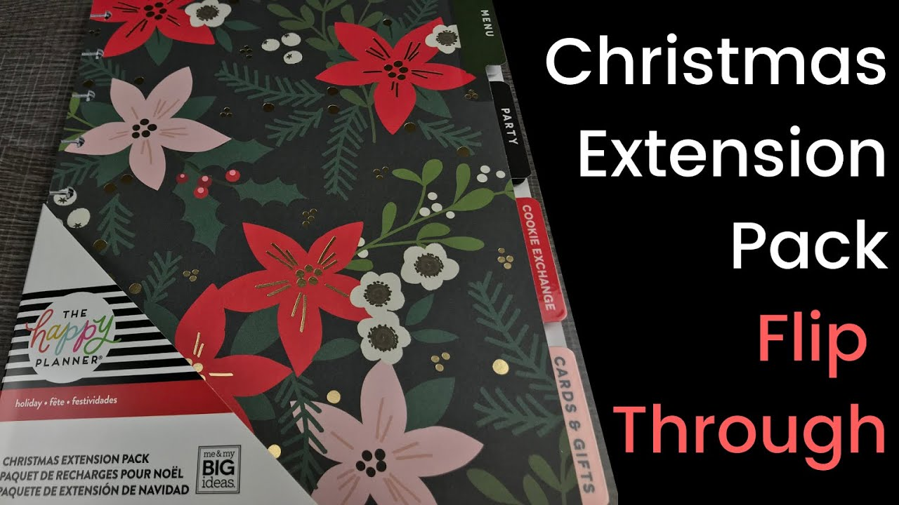 Happy Planner Christmas Extension Pack 2020 Christmas Extension Pack   YouTube