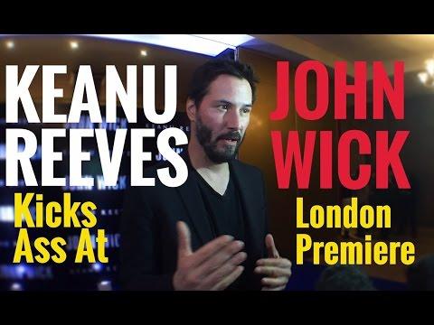 A Hyper KEANU REEVES kicks ass at the John Wick UK Premiere