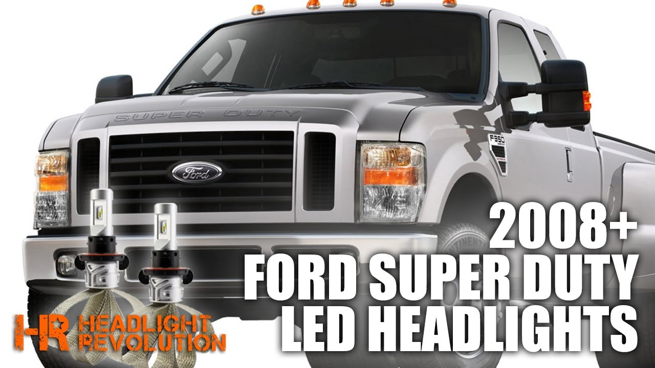 2008 ford super duty led headlight bulb upgrade headlight revolution [ 1280 x 720 Pixel ]