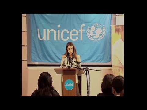 Queen Rania at UNICEF's press conference- Aid to Iraqi children
