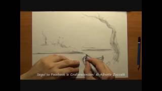"""#34 How to draw landscape - Tutorial on Facebook art page """"Le Graforecensioni di Alberto Zuccalà"""""""
