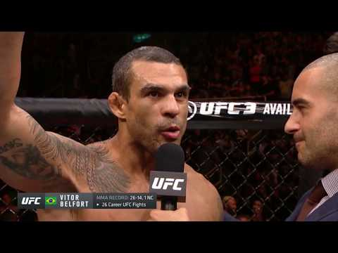 UFC 224: Vitor Belfort Octagon Interview