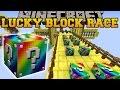 Minecraft: RAINBOW ROAD EPIC LUCKY BLOCK RACE - Lucky Block Mod - Modded Mini-Game