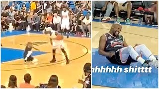 Floyd Mayweather gets dropped by Bone Collector in celebrity game