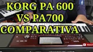 KORG PA600 VS PA700 COMPARATIVA 2019 (4K)