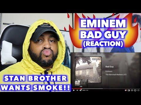"FIRST TIME HEAING ""BAD GUY"" - EMINEM | REACTION"