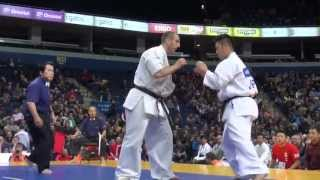 【新極真会】The 5th Karate World Cup MEN HEAVY WEIGHT Quarterfinal 3 Dimitrov vs. Mori