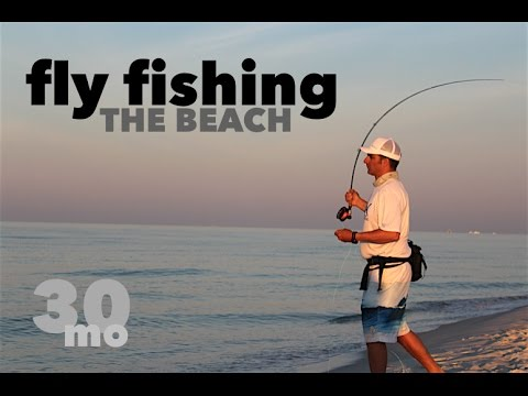 Fly Fishing The Beach - Jacks & Ladyfish, Fort Pickens State Park - Pensacola Florida