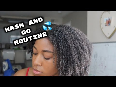 My UPDATED Wash N' Go Routine | 2019 thumbnail