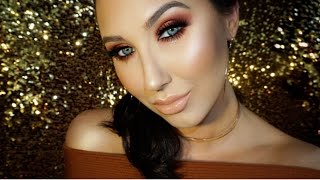 Copper Red Smokey Eye With Gold Glitter Tears | Jaclyn Hill