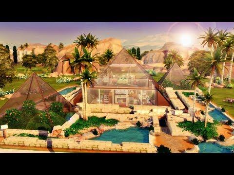CASA PIRÂMIDE DE VIDRO (Glass House Pyramid) │The Sims 4 (Speed Build)