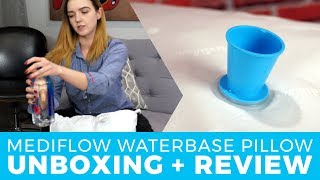 mediflow waterbase pillow unboxing demo review a pillow designed to reduce cervical neck pain