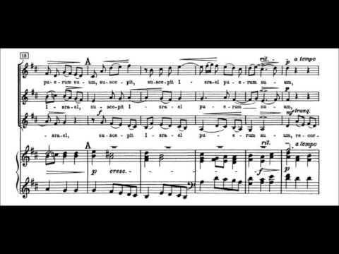Suscepit Israel (JS Bach) Music Score Partitura