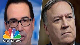 Secretaries Mike Pompeo, Steve Mnuchin Hold Press Briefing | NBC News (Live Stream Recording)
