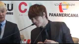 Conferencia de prensa de JYJ en el hotel Marriot (ElComercio) Lima-...