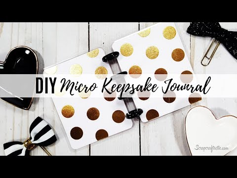 How To Make a DIY Micro Size Disc Bound Keepsake Journal or Notebook | Scrapcraftastic