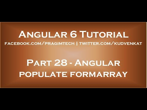 Angular populate formarray