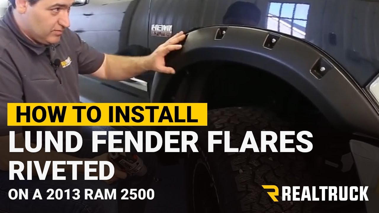 How to install lund riveted fender flares rocks the ram build youtube