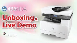 UNBOXING HP LASERJET MFP 436NDA DIGITAL COPIER, PRINTER, SCANNER, XEROX MACHINE A3 DUPLEX PRINTER,
