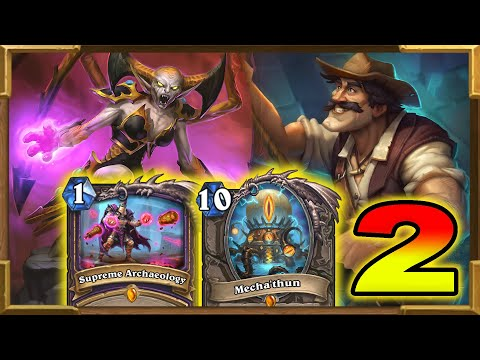 Hearthstone: Quest OTK Mecha'thun Warlock With Reno Jackson Part 2 | Descent of Dragons | Wild