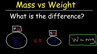 Physics - What Iṡ The Difference Between Mass and Weight?